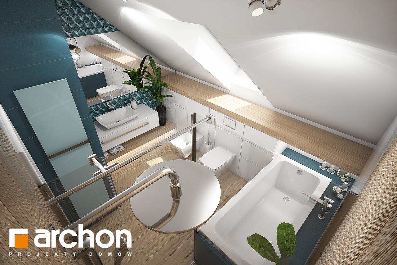Проект будинку ARCHON+ Будинок в ізопірумі 2 візуалізація ванни (візуалізація 3 від 4)