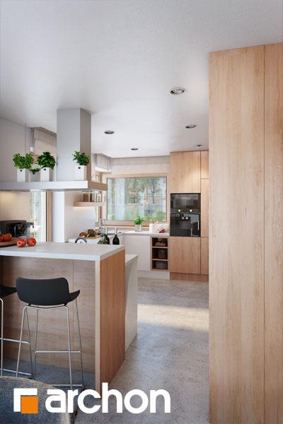 Проект будинку ARCHON+ Будинок в аурорах 4 візуалізація кухні 1 від 1