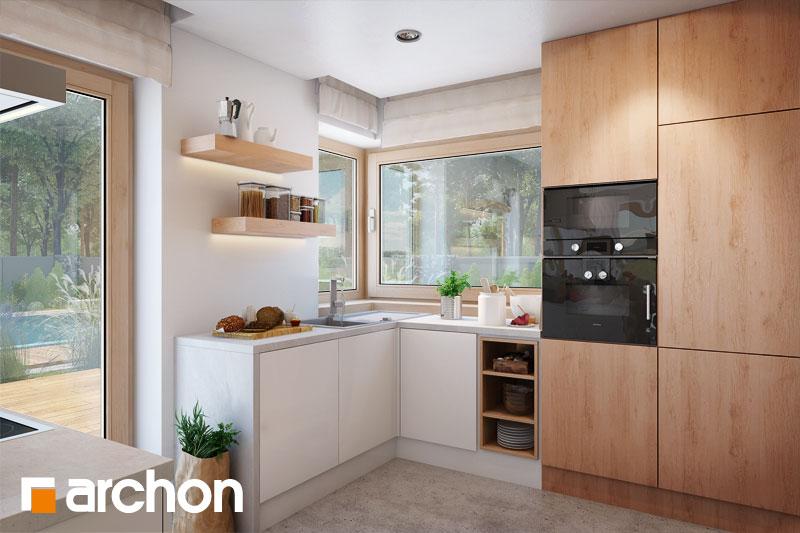 Проект будинку ARCHON+ Будинок в аурорах 4 візуалізація кухні 1 від 3