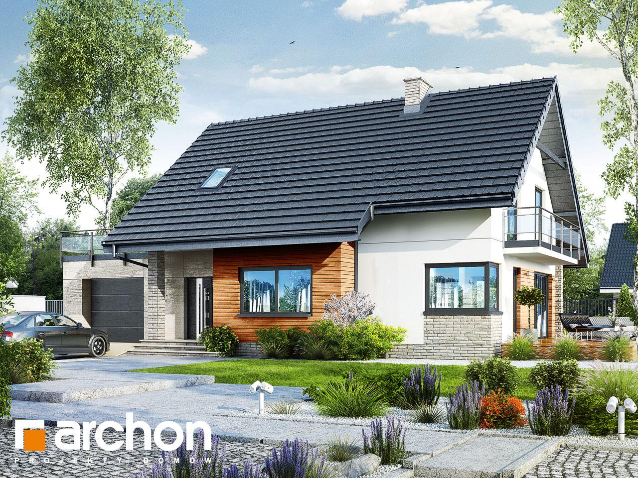 Проект будинку ARCHON+ Будинок в аурорах 4 стилізація 3