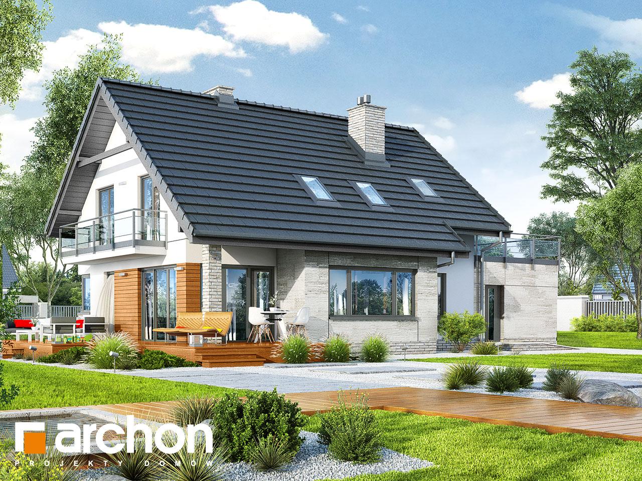 Проект будинку ARCHON+ Будинок в аурорах 4 стилізація 4