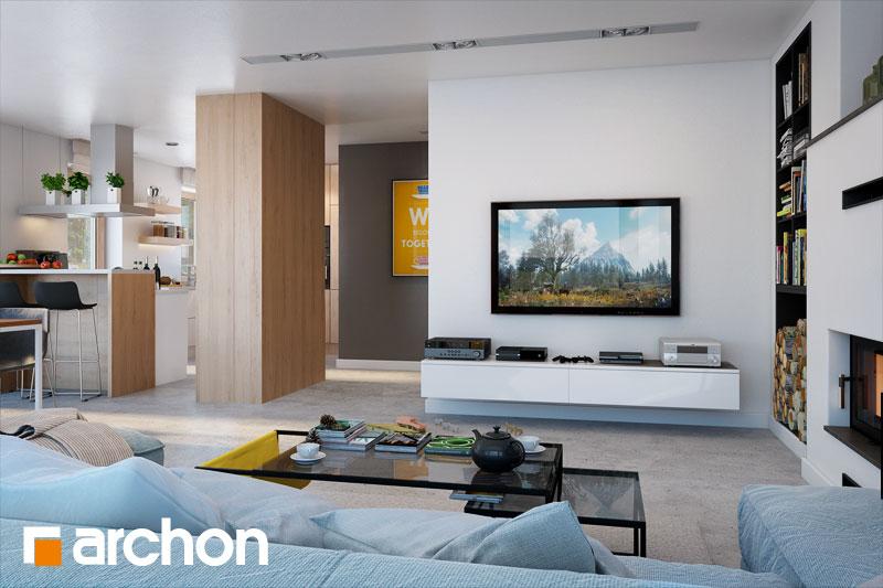 Проект будинку ARCHON+ Будинок в аурорах 4 денна зона (візуалізація 1 від 2)