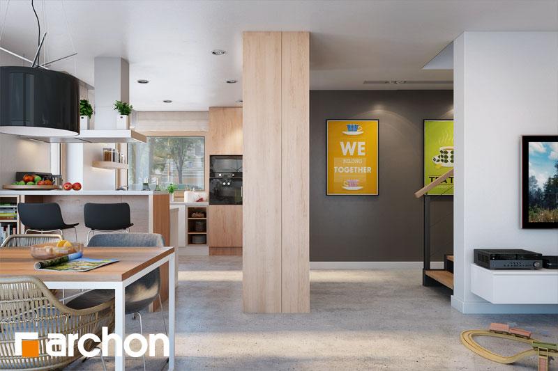 Проект будинку ARCHON+ Будинок в аурорах 4 денна зона (візуалізація 1 від 6)