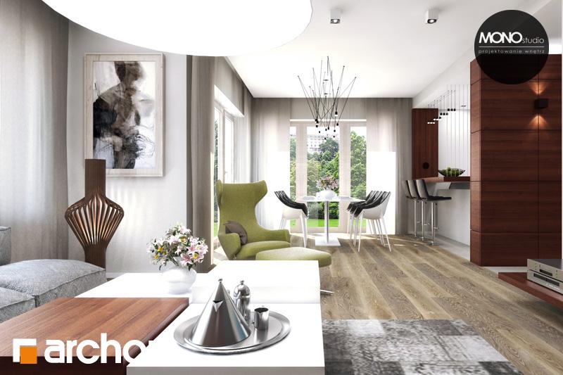 Проект будинку ARCHON+ Будинок в аурорах 4 денна зона (візуалізація 2 від 1)