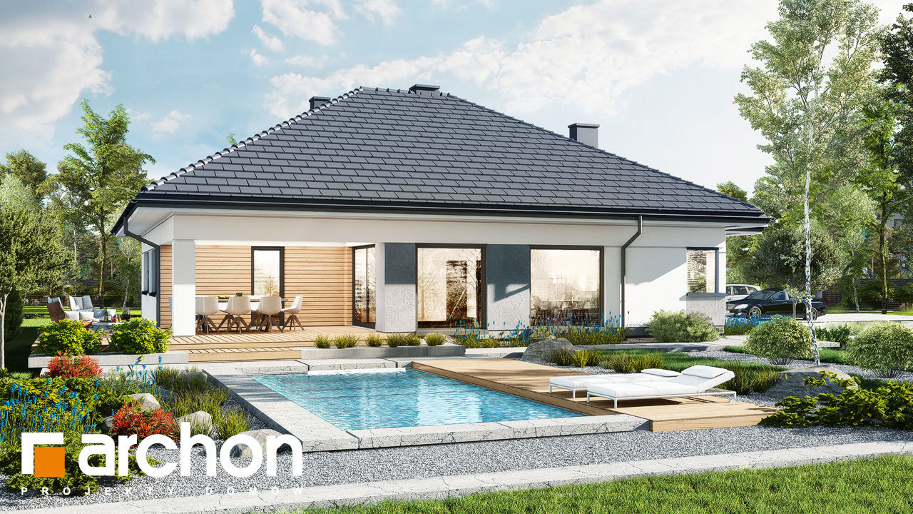 Проект будинку ARCHON+ Будинок в ренклодах 15 (Г2)