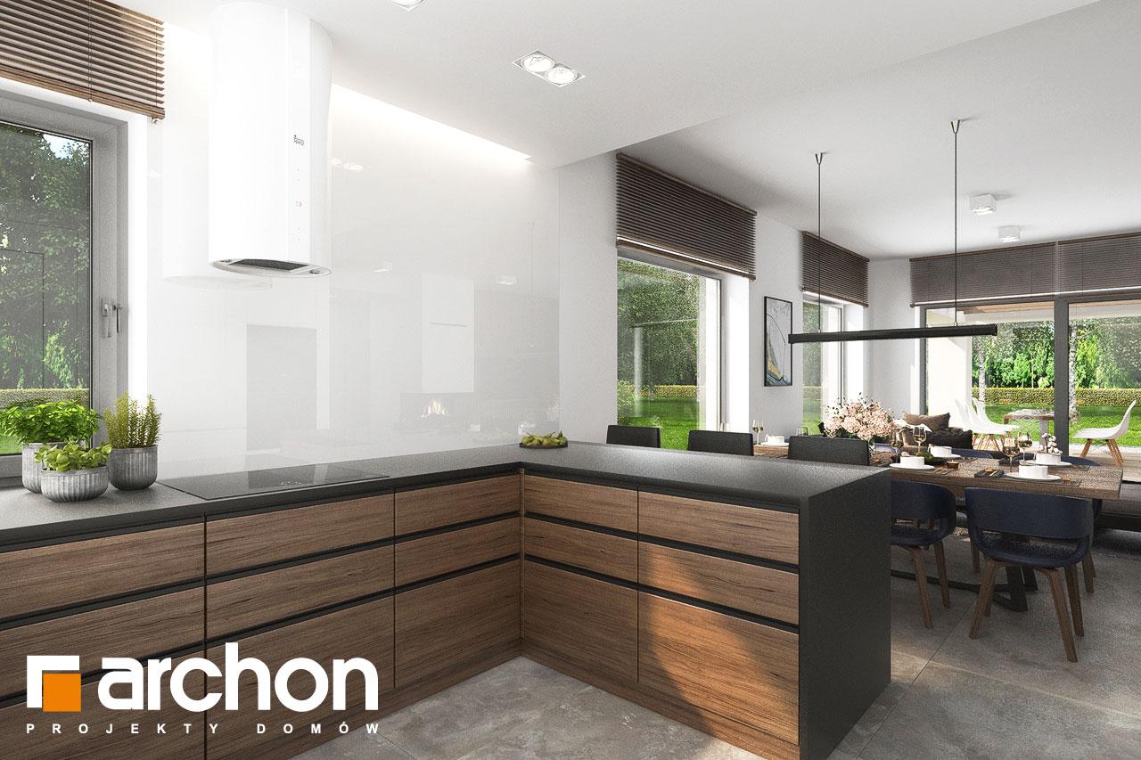 Проект будинку ARCHON+ Будинок в ренклодах 15 (Г2) візуалізація кухні 1 від 2