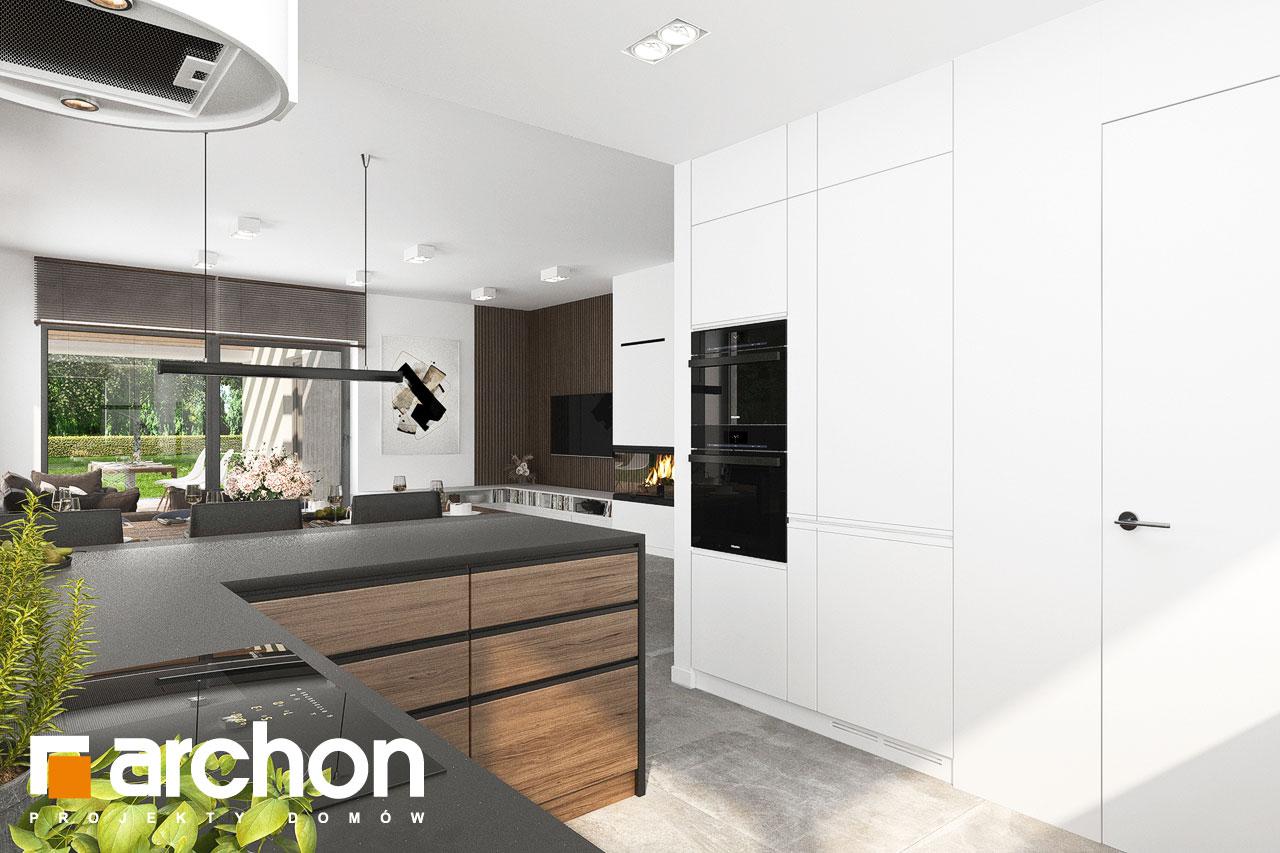 Проект будинку ARCHON+ Будинок в ренклодах 15 (Г2) візуалізація кухні 1 від 3