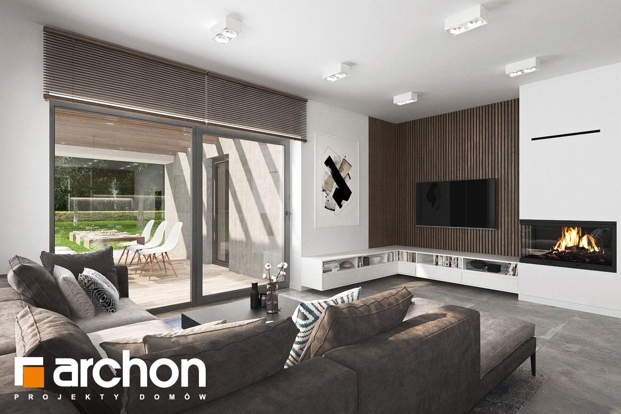 Проект будинку ARCHON+ Будинок в ренклодах 15 (Г2) денна зона (візуалізація 1 від 1)