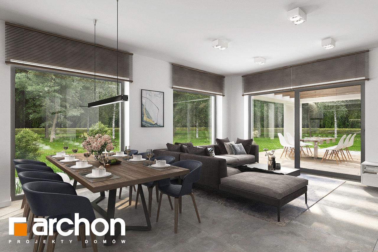 Проект будинку ARCHON+ Будинок в ренклодах 15 (Г2) денна зона (візуалізація 1 від 2)