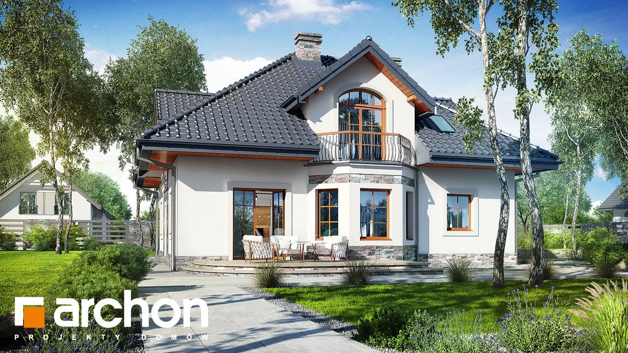 Проект будинку ARCHON+ Будинок в тим'яні 10 (П) Вид 2