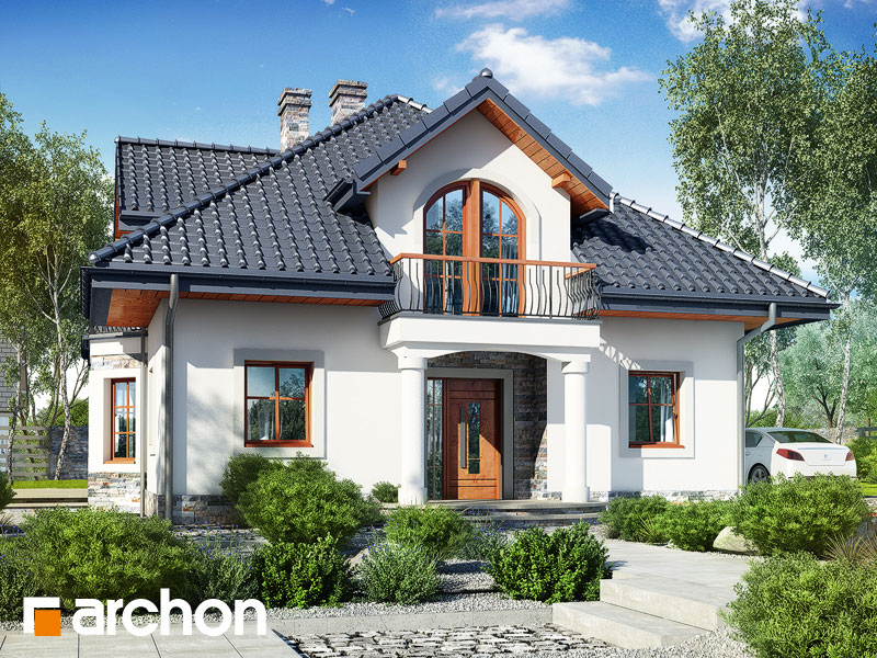 Проект будинку ARCHON+ Будинок в тим'яні 10 (П) Вид 1