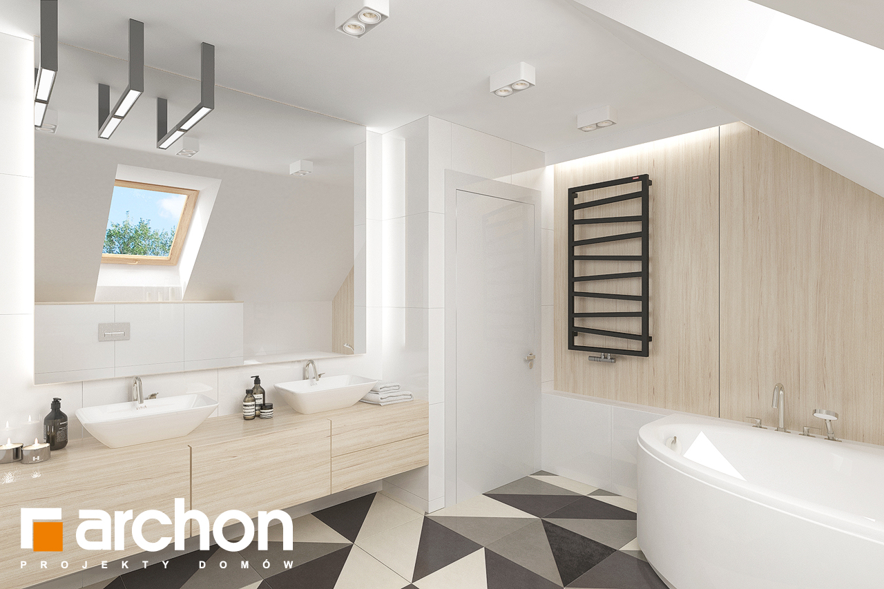 Проект будинку ARCHON+ Будинок в крокосміях (Г2) візуалізація ванни (візуалізація 3 від 2)
