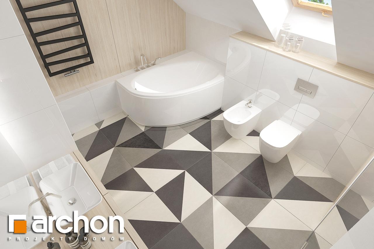Проект будинку ARCHON+ Будинок в крокосміях (Г2) візуалізація ванни (візуалізація 3 від 4)