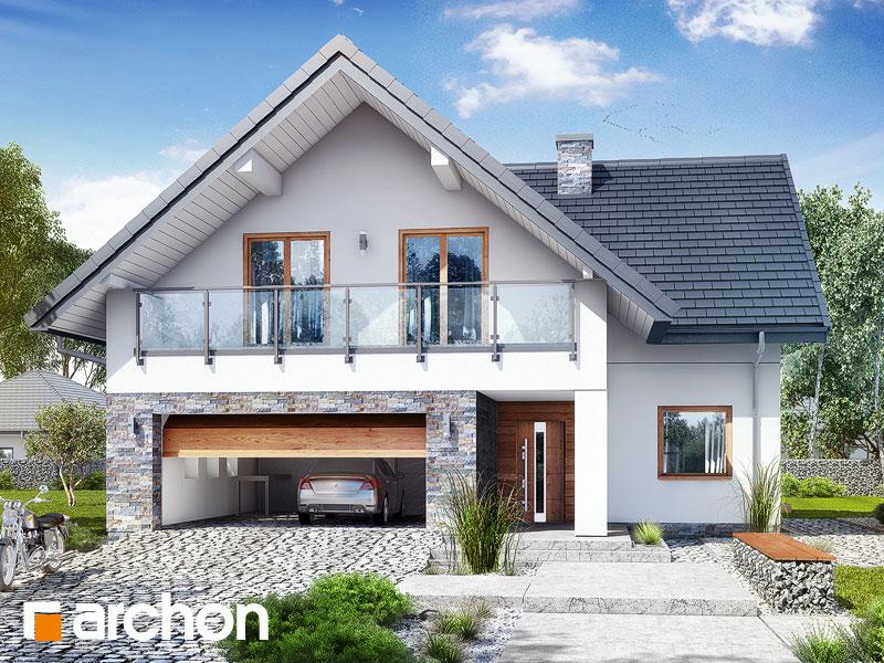 Проект будинку ARCHON+ Будинок в крокосміях (Г2) Вид 1