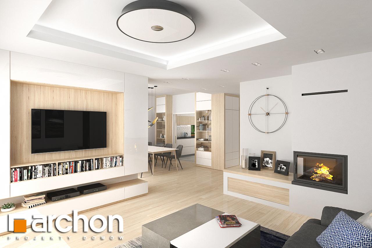 Проект будинку ARCHON+ Будинок в крокосміях (Г2) денна зона (візуалізація 1 від 1)