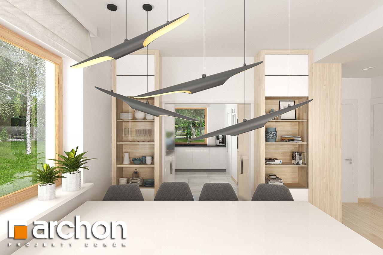 Проект будинку ARCHON+ Будинок в крокосміях (Г2) денна зона (візуалізація 1 від 3)
