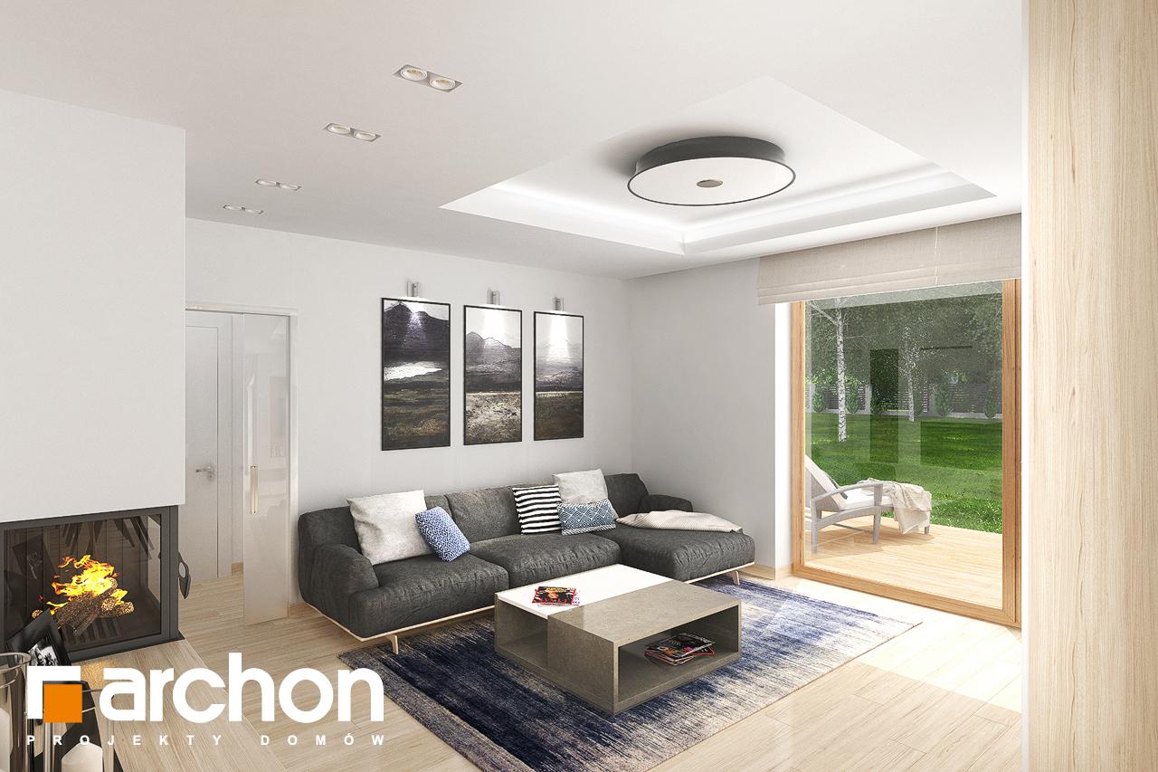 Проект будинку ARCHON+ Будинок в крокосміях (Г2) денна зона (візуалізація 1 від 4)