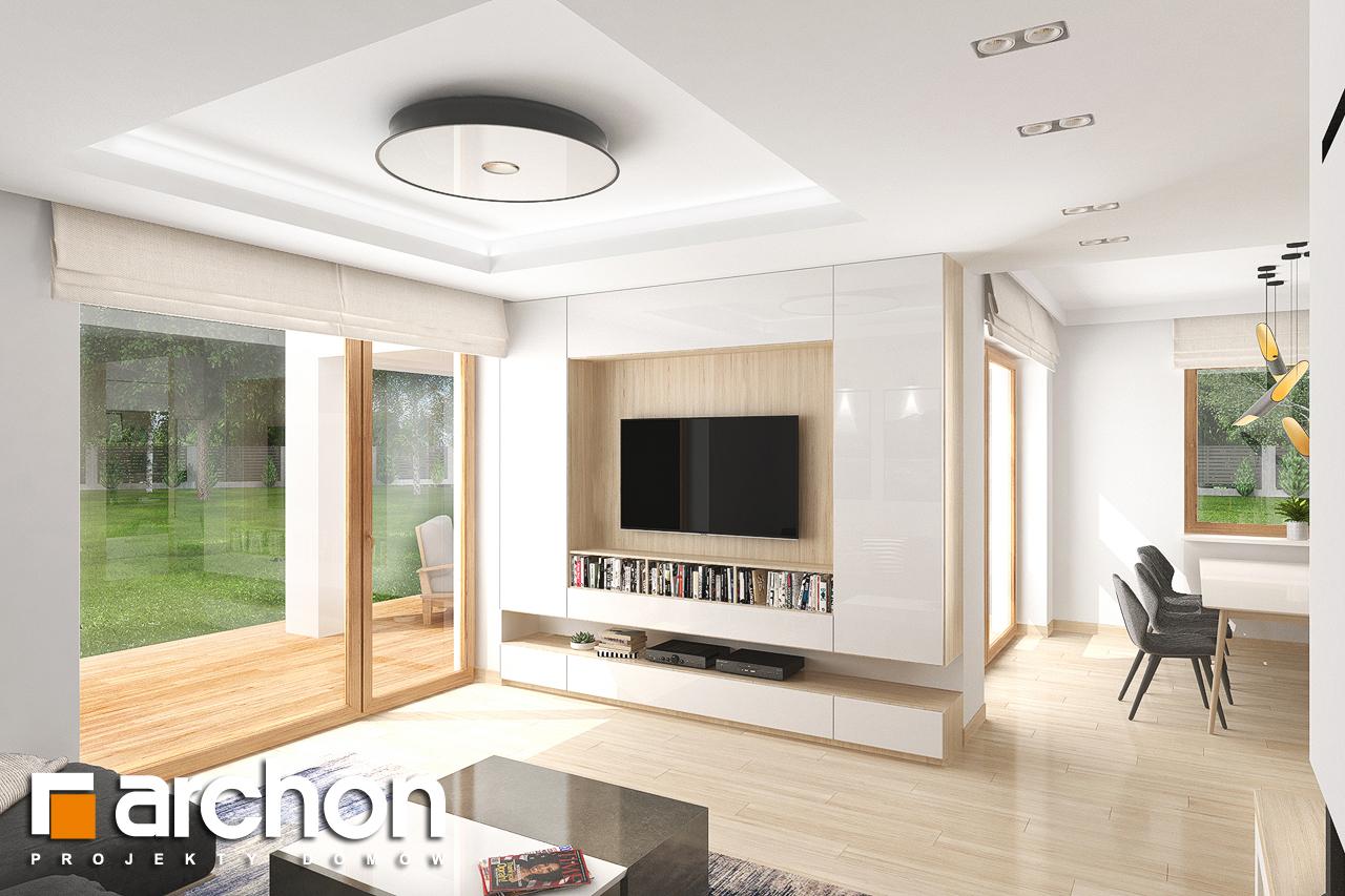 Проект будинку ARCHON+ Будинок в крокосміях (Г2) денна зона (візуалізація 1 від 5)