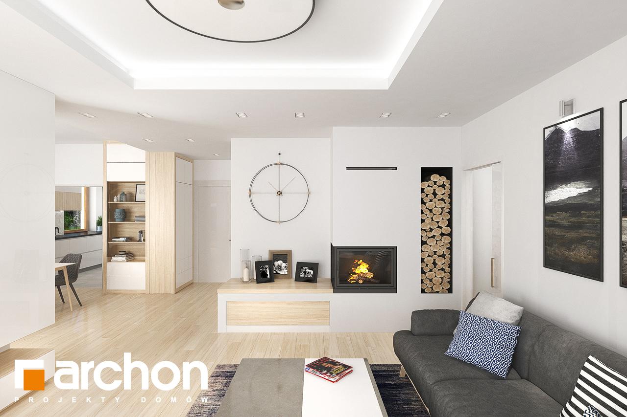 Проект будинку ARCHON+ Будинок в крокосміях (Г2) денна зона (візуалізація 1 від 6)