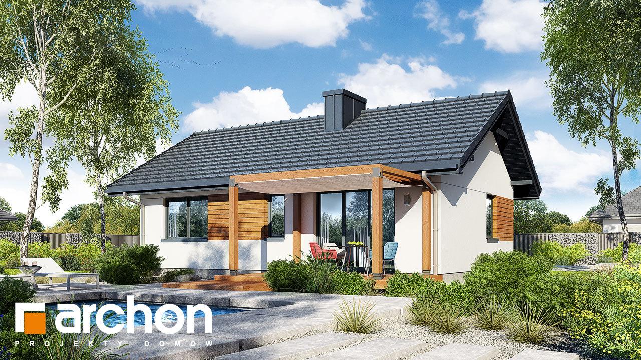 Проект будинку ARCHON+ Будинок в коручках 2