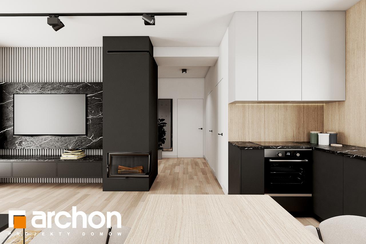 Проект будинку ARCHON+ Будинок в коручках 2 візуалізація кухні 1 від 1