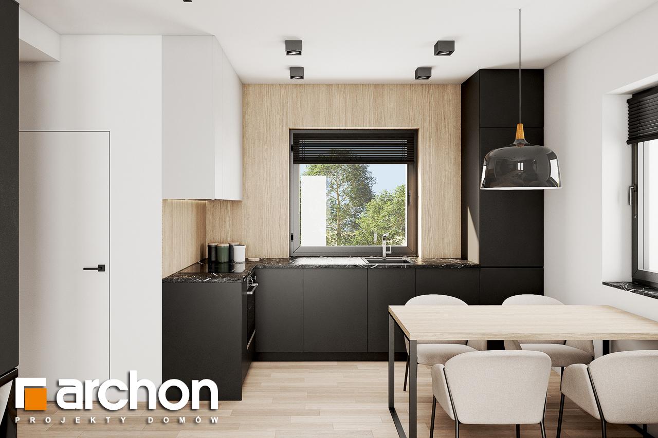 Проект будинку ARCHON+ Будинок в коручках 2 візуалізація кухні 1 від 2