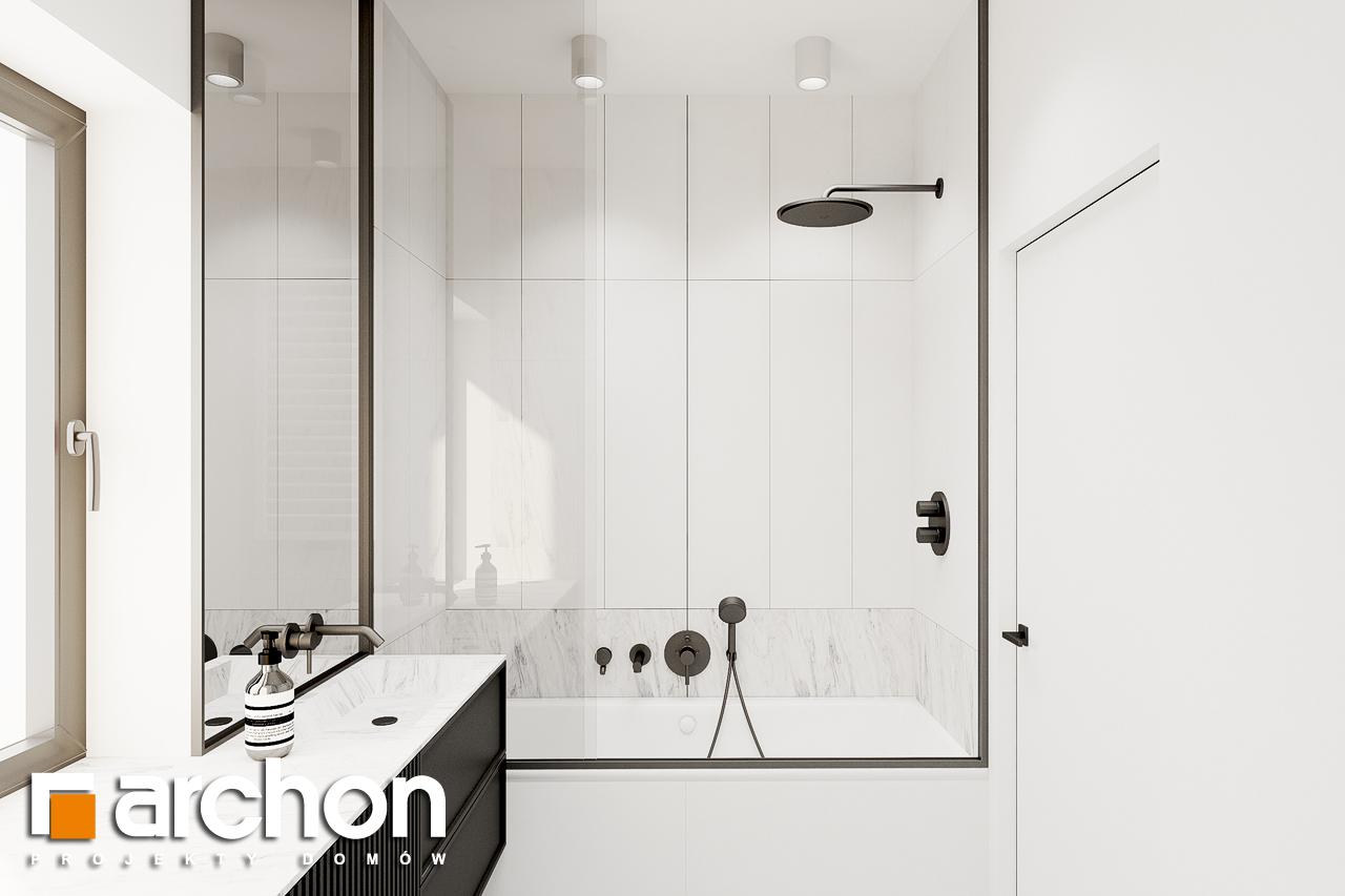 Проект будинку ARCHON+ Будинок в коручках 2 візуалізація ванни (візуалізація 3 від 1)
