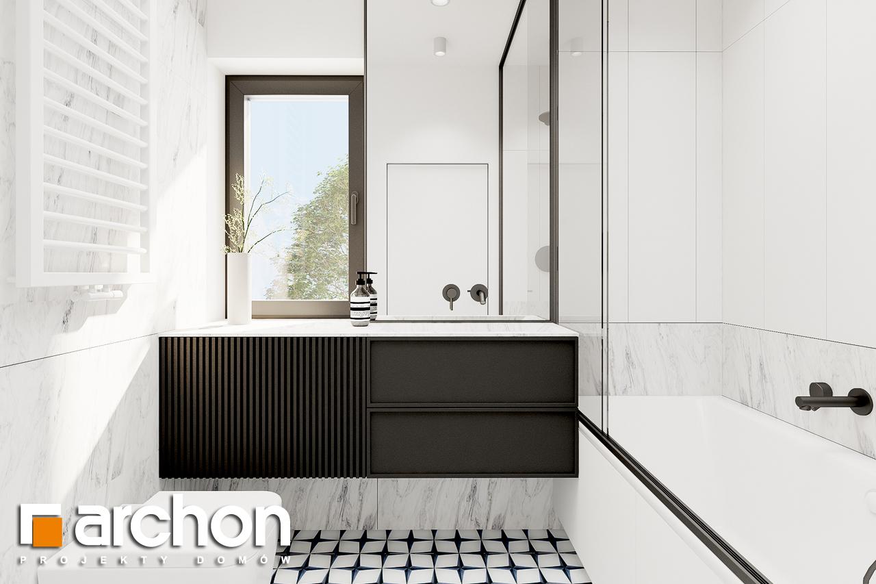 Проект будинку ARCHON+ Будинок в коручках 2 візуалізація ванни (візуалізація 3 від 2)