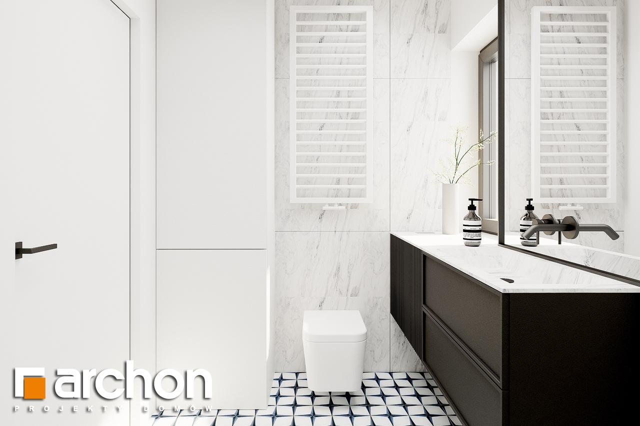 Проект будинку ARCHON+ Будинок в коручках 2 візуалізація ванни (візуалізація 3 від 3)