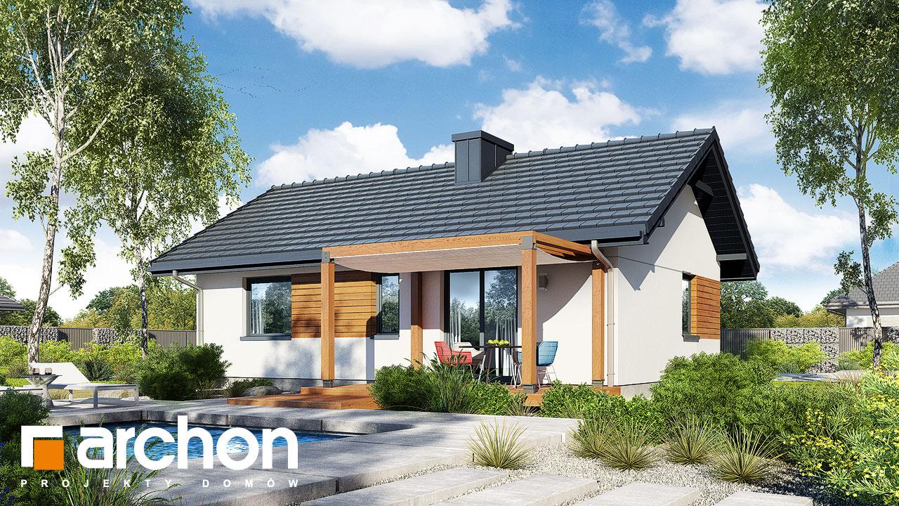 Проект будинку ARCHON+ Будинок в коручках 2 Вид 2