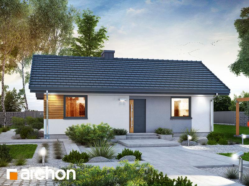 Проект будинку ARCHON+ Будинок в коручках 2 Вид 1
