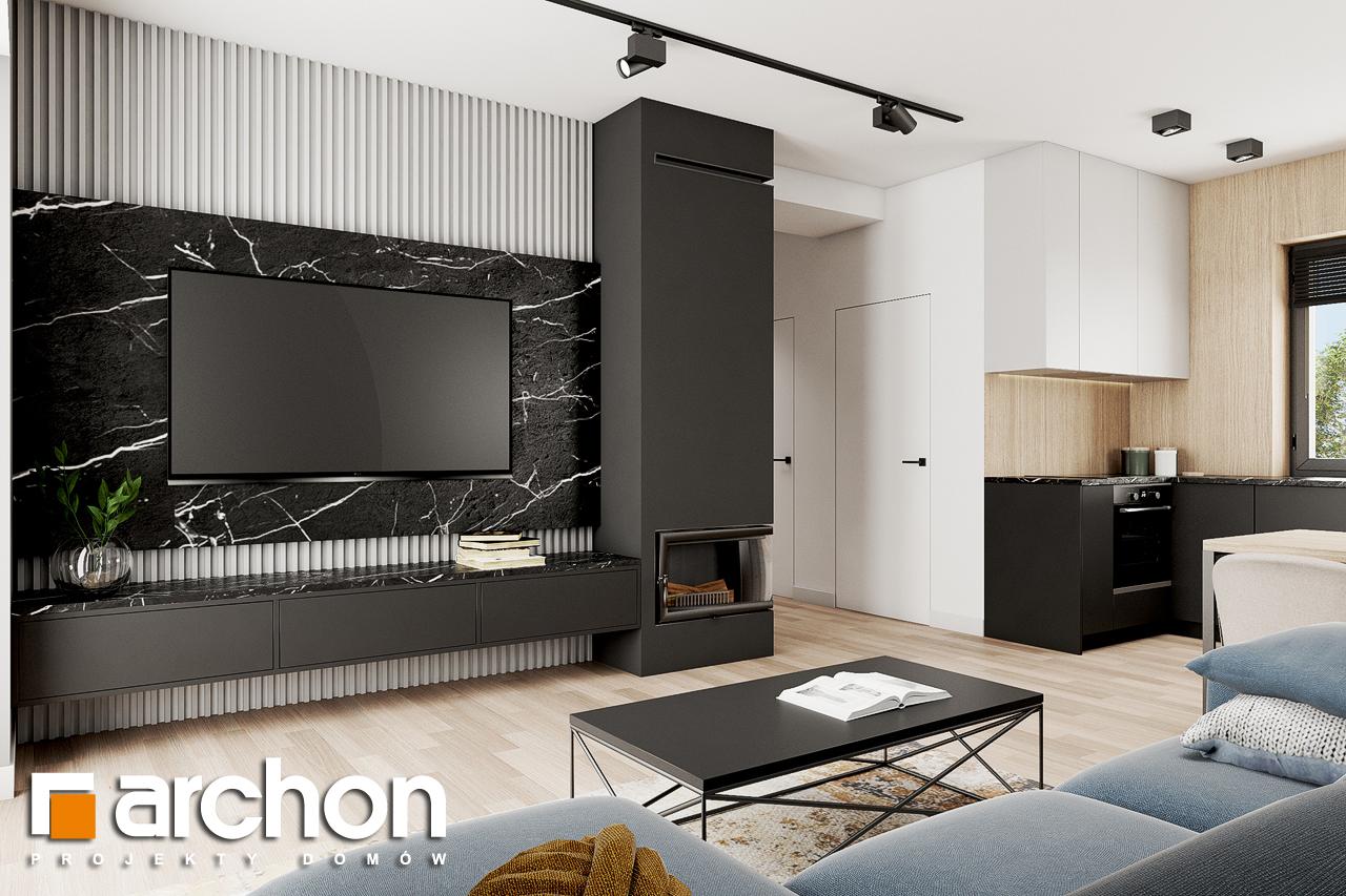 Проект будинку ARCHON+ Будинок в коручках 2 денна зона (візуалізація 1 від 2)