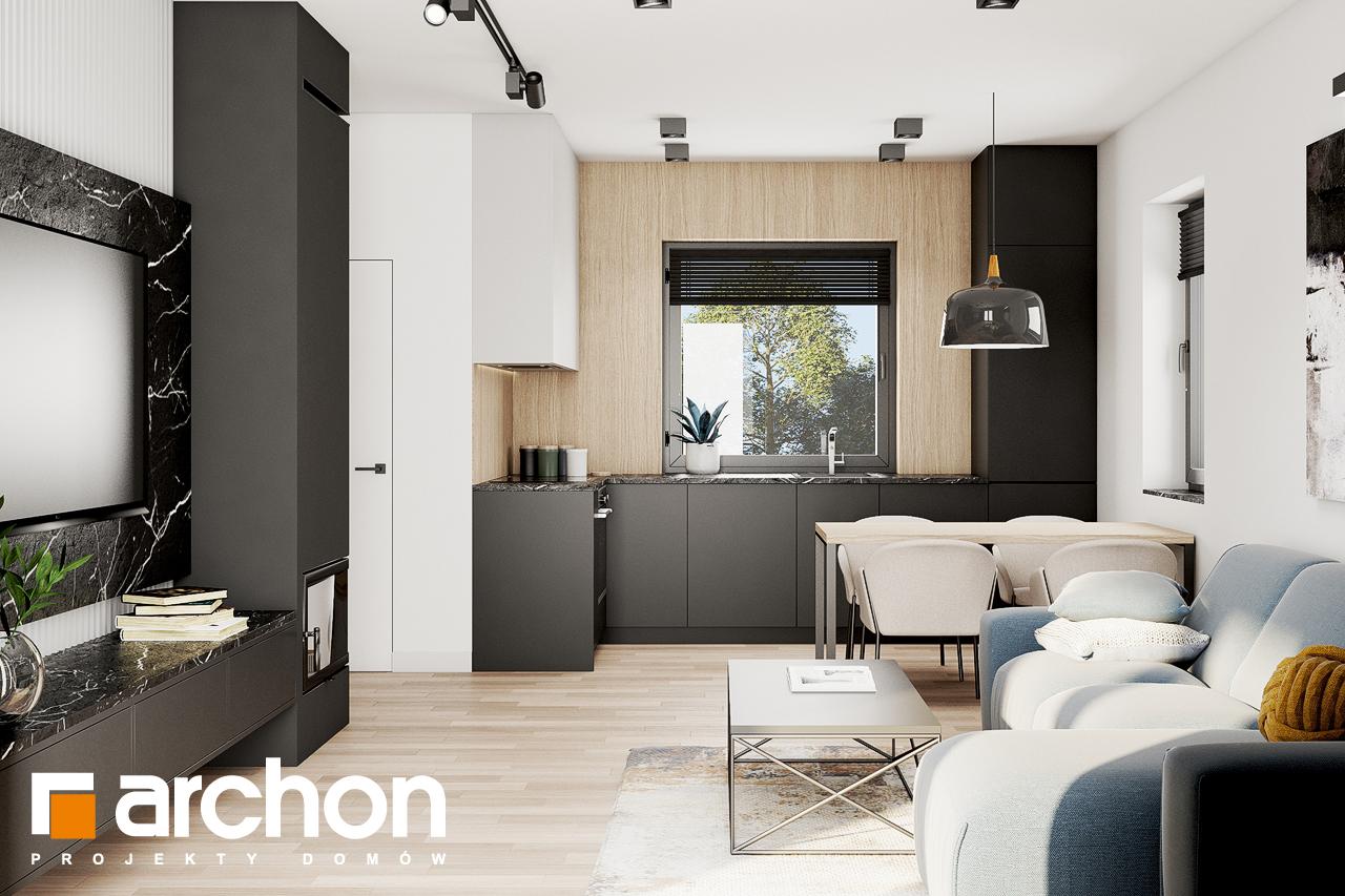 Проект будинку ARCHON+ Будинок в коручках 2 денна зона (візуалізація 1 від 3)
