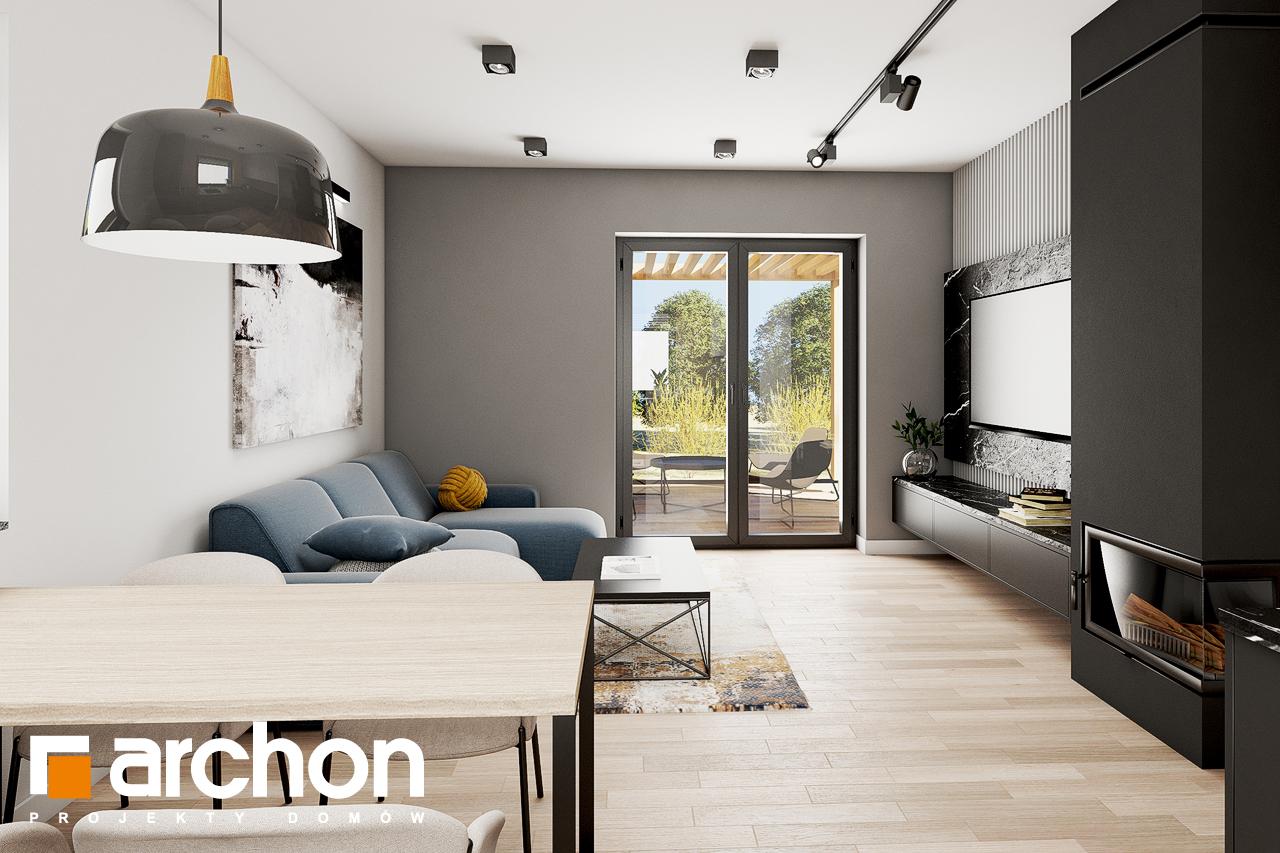 Проект будинку ARCHON+ Будинок в коручках 2 денна зона (візуалізація 1 від 4)