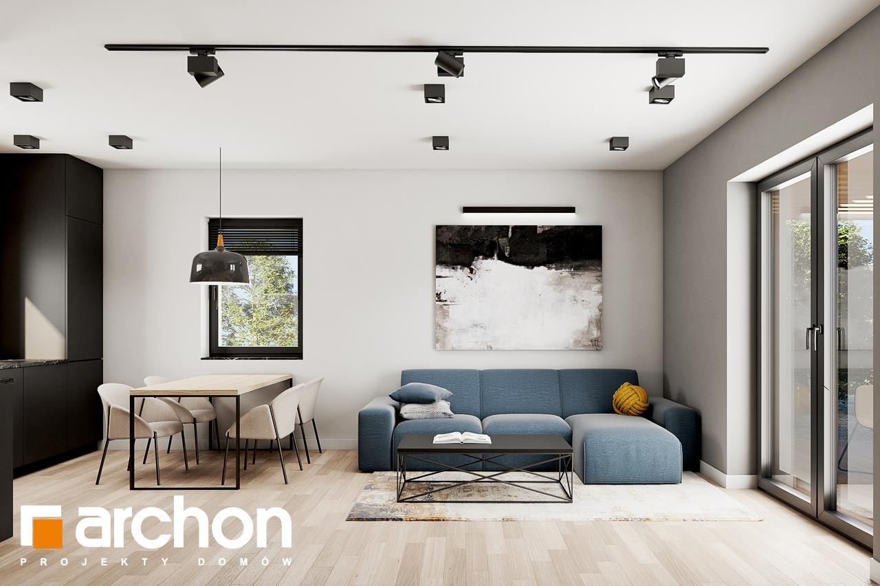 Проект будинку ARCHON+ Будинок в коручках 2 денна зона (візуалізація 1 від 5)