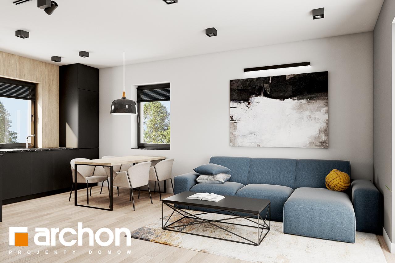 Проект будинку ARCHON+ Будинок в коручках 2 денна зона (візуалізація 1 від 6)