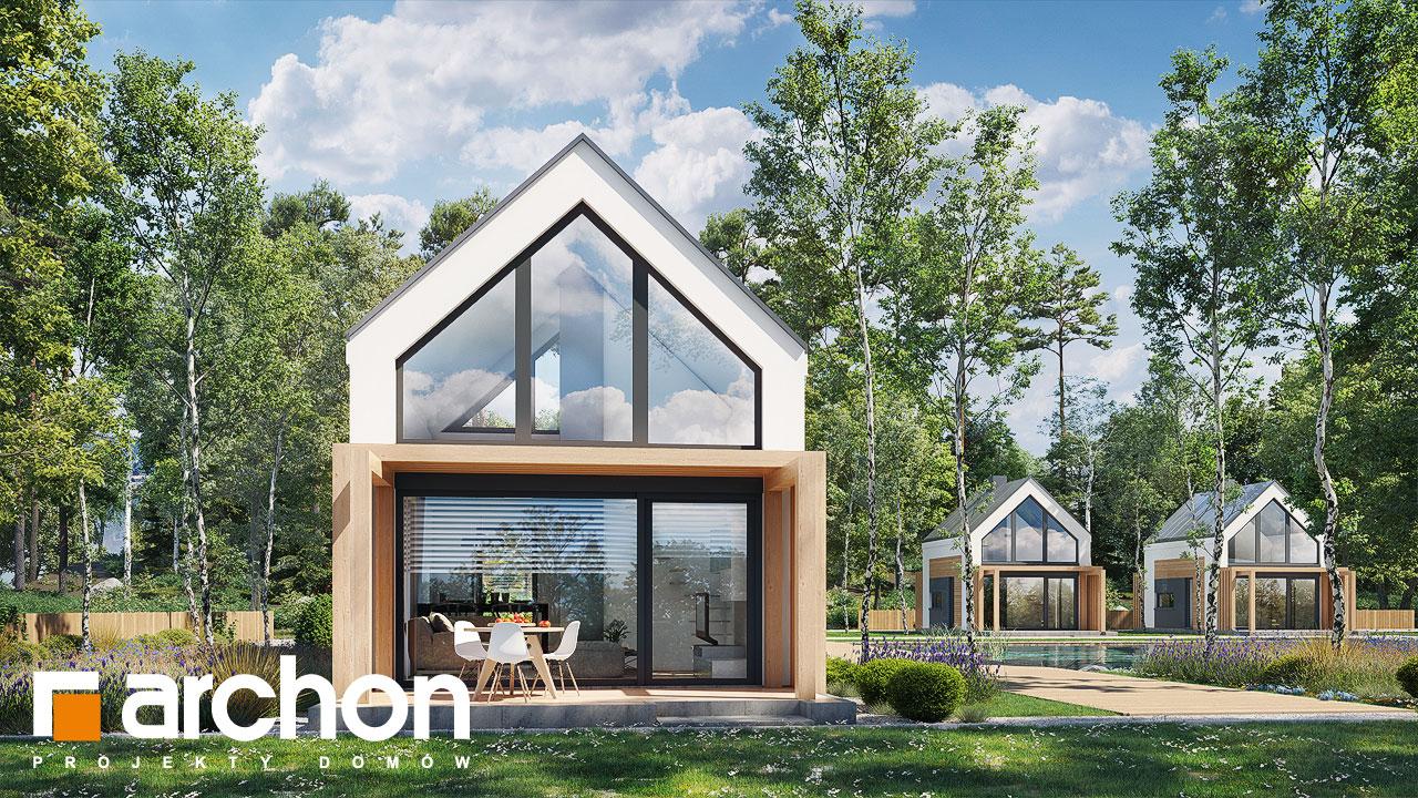 Проект будинку ARCHON+ Літній будиночок в голокупнику 2 додаткова візуалізація