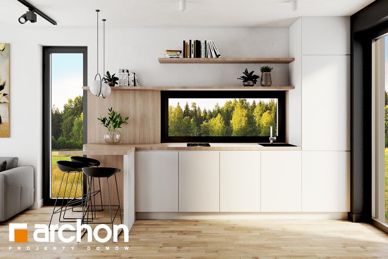 Проект будинку ARCHON+ Літній будиночок в голокупнику 2 візуалізація кухні 1 від 1