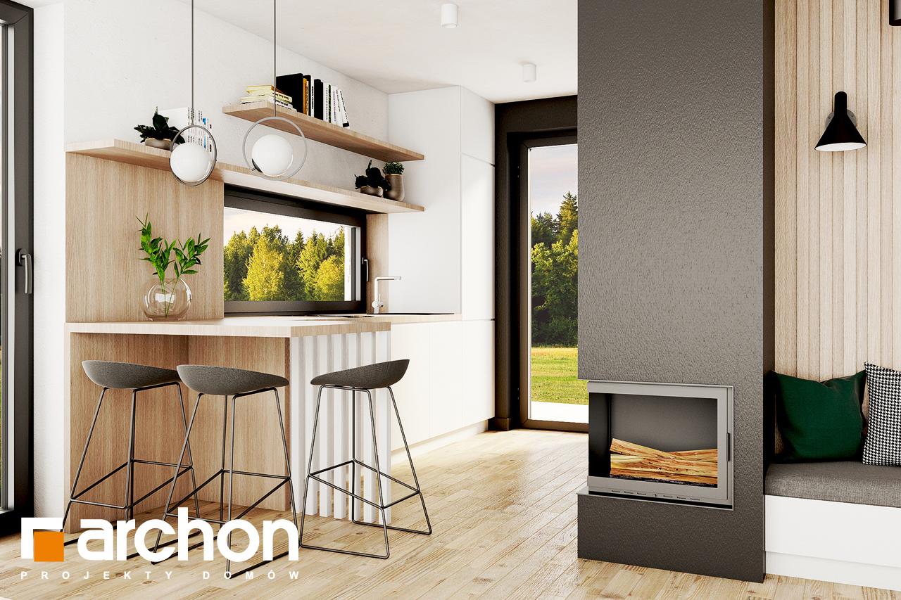 Проект будинку ARCHON+ Літній будиночок в голокупнику 2 візуалізація кухні 1 від 2