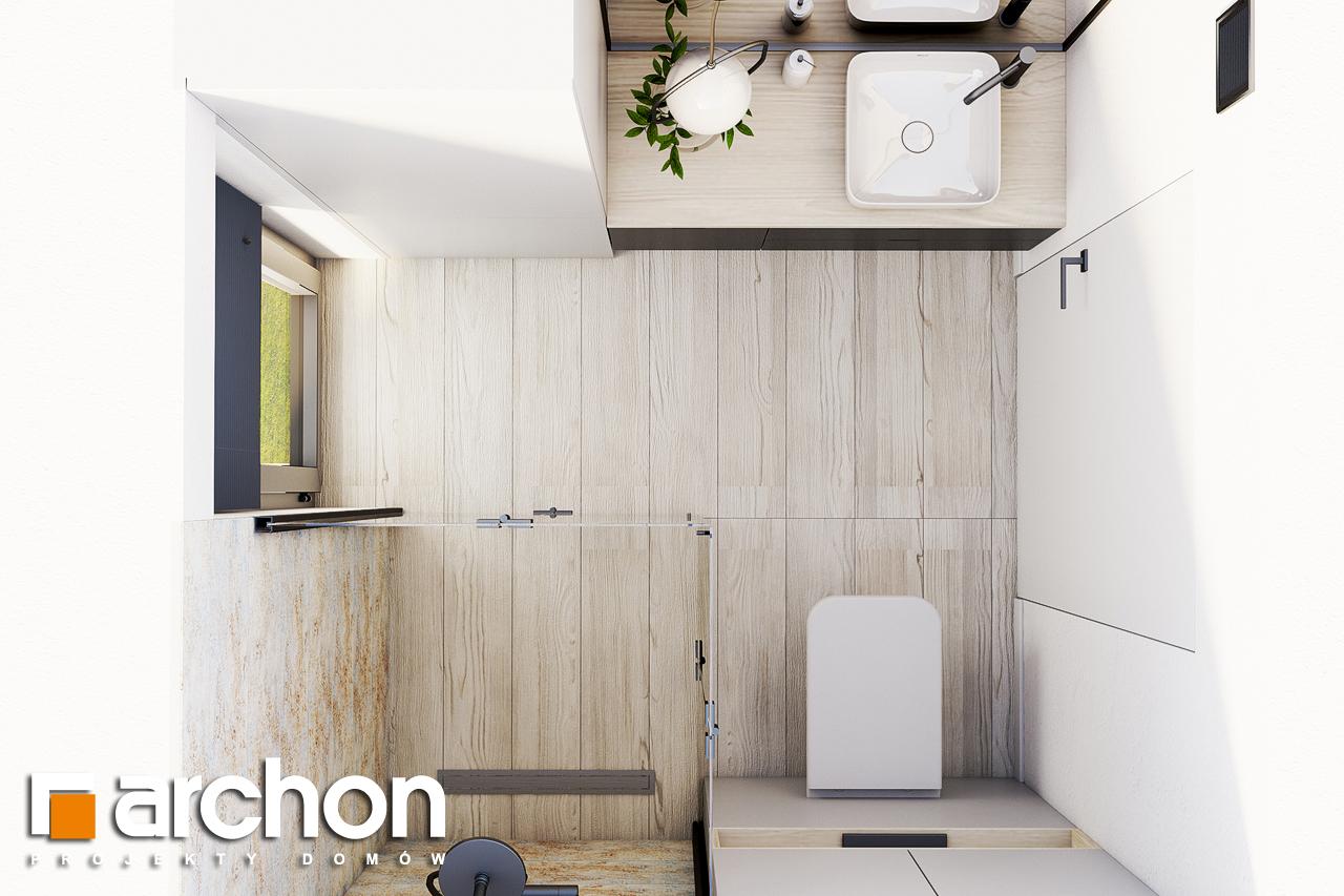 Проект будинку ARCHON+ Літній будиночок в голокупнику 2 візуалізація ванни (візуалізація 3 від 4)