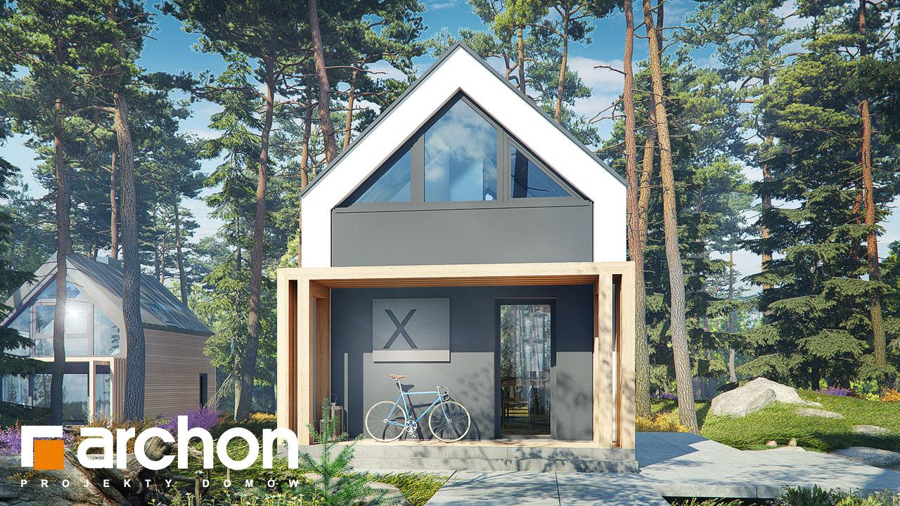 Проект будинку ARCHON+ Літній будиночок в голокупнику 2 Вид 2