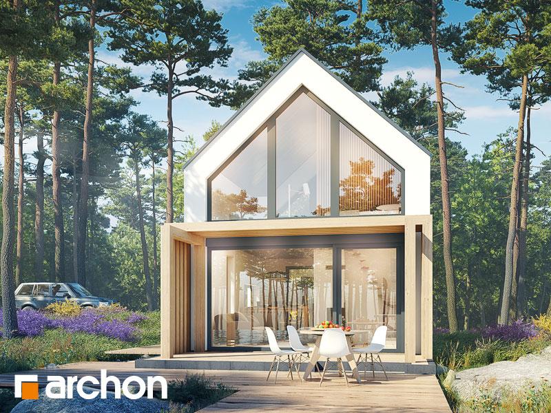 Проект будинку ARCHON+ Літній будиночок в голокупнику 2 Вид 1