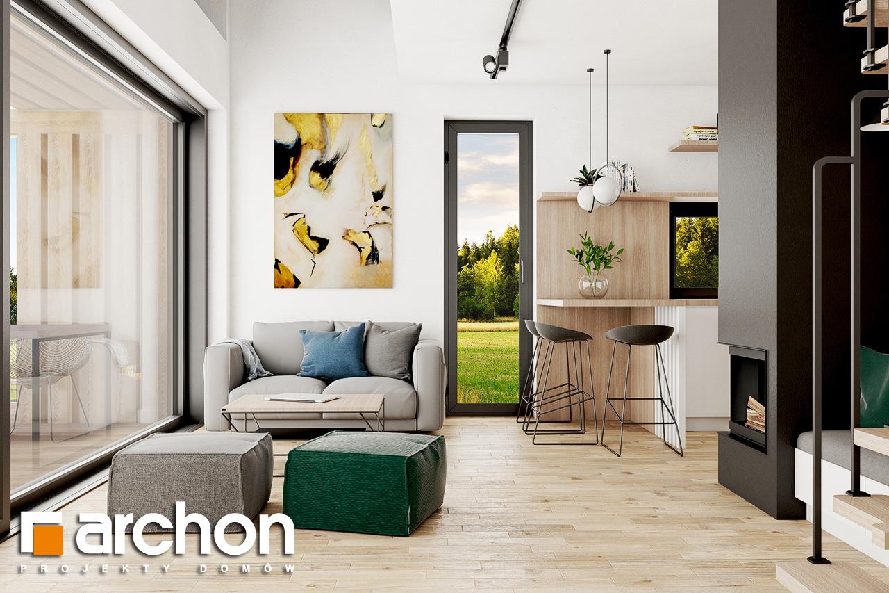 Проект будинку ARCHON+ Літній будиночок в голокупнику 2 денна зона (візуалізація 1 від 2)