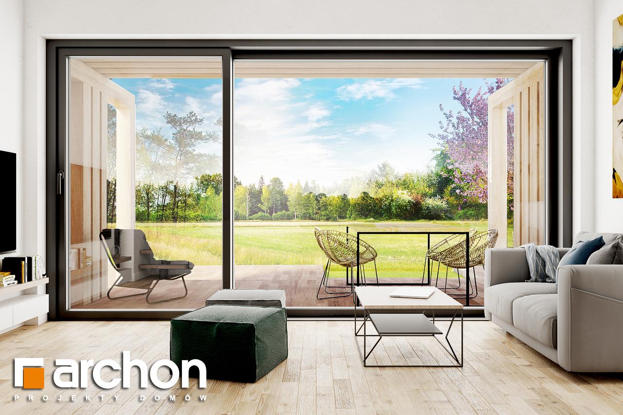 Проект будинку ARCHON+ Літній будиночок в голокупнику 2 денна зона (візуалізація 1 від 3)