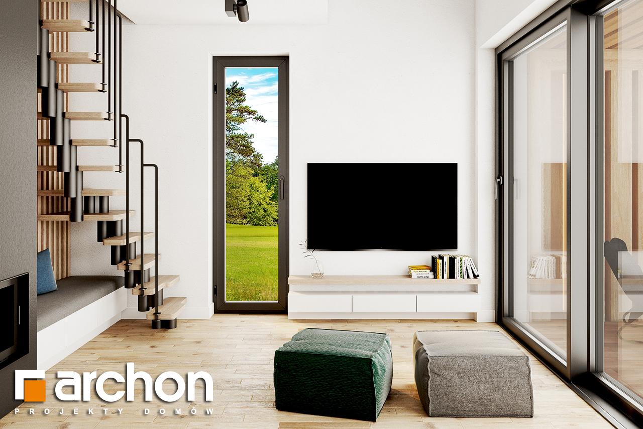Проект будинку ARCHON+ Літній будиночок в голокупнику 2 денна зона (візуалізація 1 від 4)