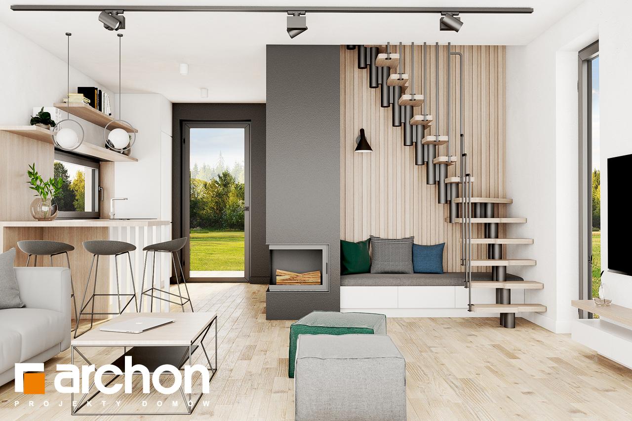 Проект будинку ARCHON+ Літній будиночок в голокупнику 2 денна зона (візуалізація 1 від 5)