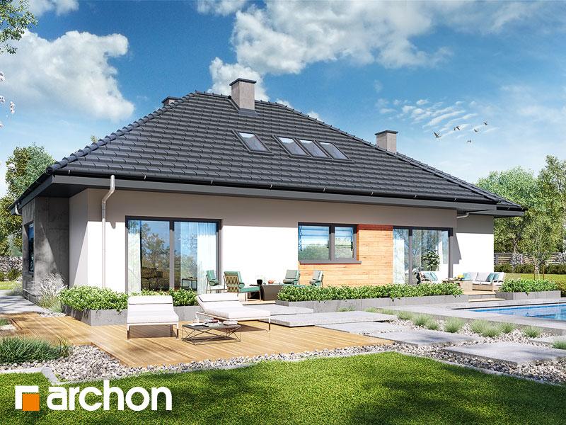 Проект будинку ARCHON+ Будинок під червоною горобиною (ДМН) вер.2 Вид 2