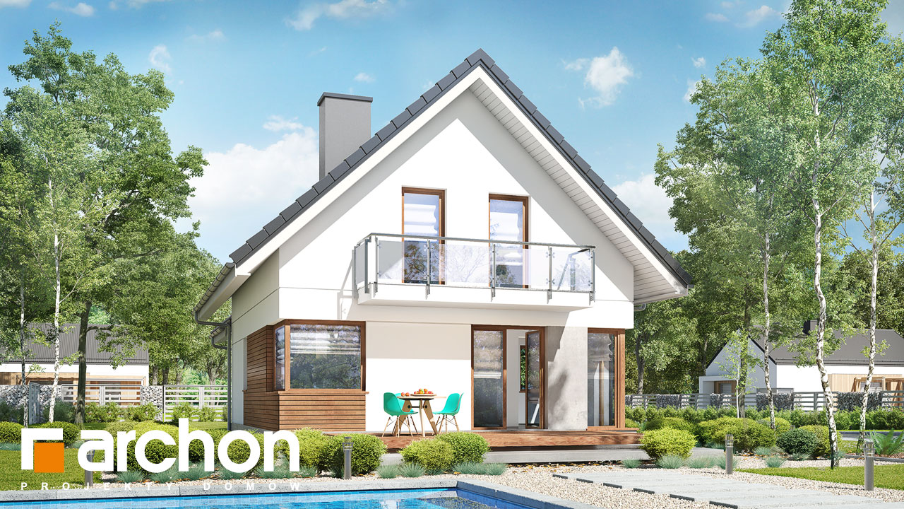 Проект будинку ARCHON+ Будинок в ананасах (Н) ver.2 Вид 2