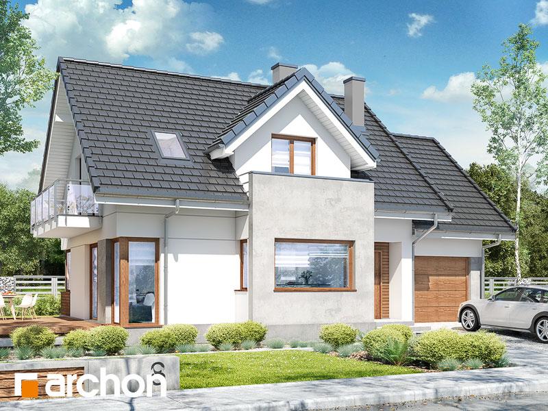 Проект дома ARCHON+ Дом в ананасах (H) ver.2 Вид 1