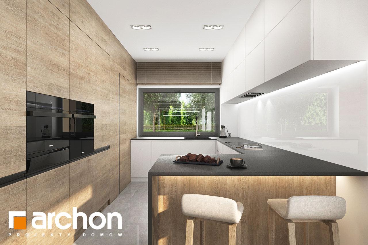 Проект будинку ARCHON+ Будинок в ренклодах 11 (Г2) візуалізація кухні 1 від 1